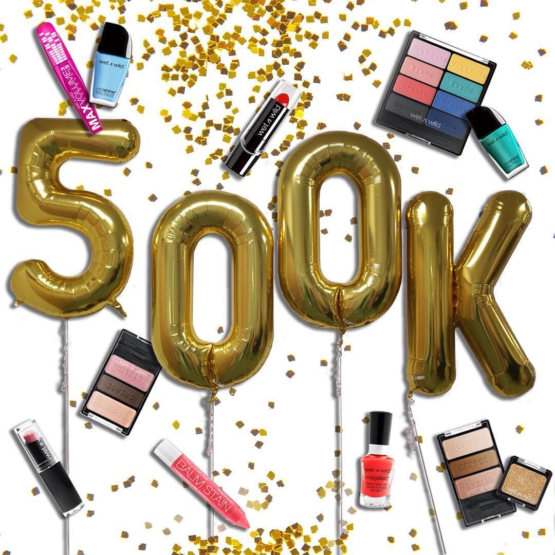 """OMG.500K?! Wild Ones, you're way too kind ❤️❤️❤️ Now let's partayyyy!  #wetnwildbeauty"""