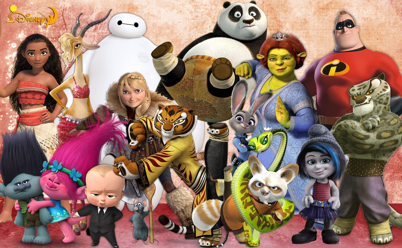 Moana 2016  Big Hero 6  Kung Fu Panda  Shrek  Zootopia -9742