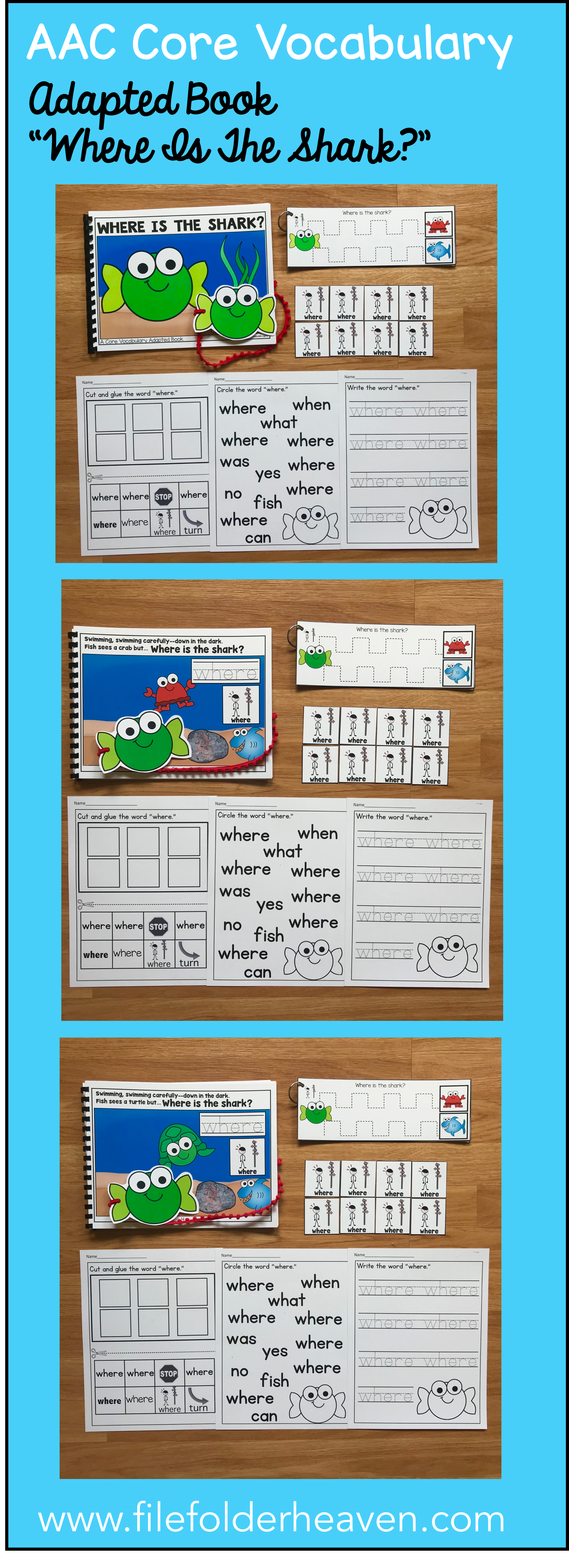 This Core Vocabulary Adapted Book Where Is The Shark