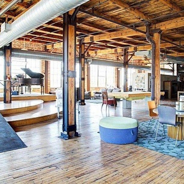 Exposed Beams Cementindustrialindustradesigninterior - Contemporary soho loft with exposed brick and wood beams