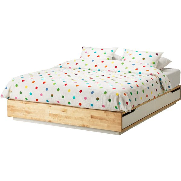 Ikea Mandal Bed Frame With Storage Birch White Ikea Mandal Bed Bed Frame With Storage Bed Frame With Drawers