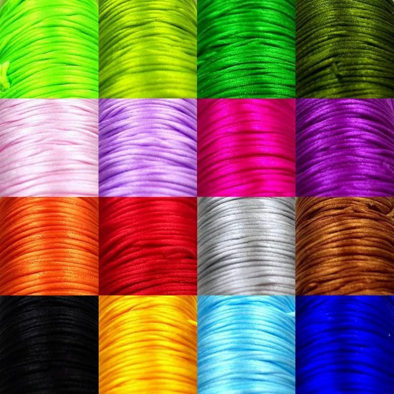 70Meter Chinese Knot Satin Nylon Braided Cord Macrame Beading Rattail Cords 1mm