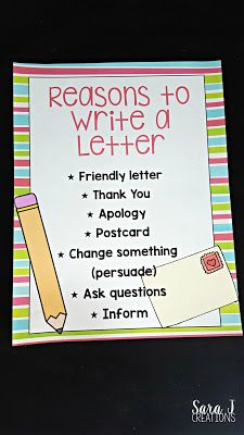 Teaching Letter Writing  Writing Skills Anchor Charts And Chart