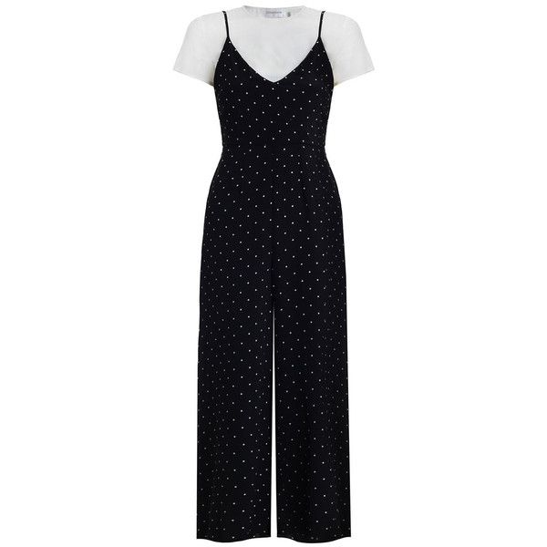 Zimmermann Black White Polka Dot Silk Tee Jumpsuit 3650 Cny
