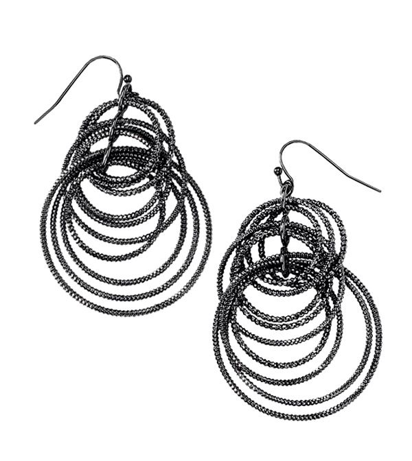 Voltage Earrings-hematite Www.liasophia.com/kimnitsos