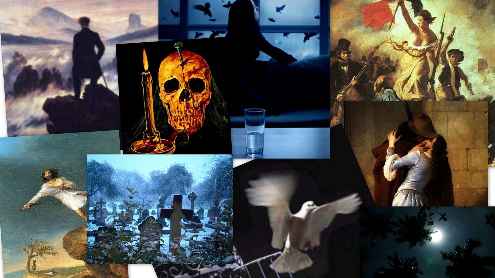 Collage del romanticismo y neoclasicismo. Neoclasicismo