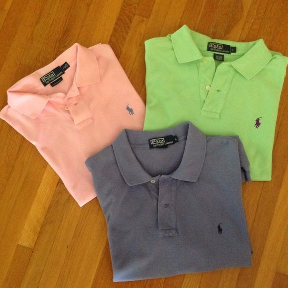 Shop Men's size L Polos at a discounted price at Poshmark. Description: Classics! Can purchase individually @$10ea. Or 3 for $25.. Sold by bach25. Fast delivery, full service customer support.