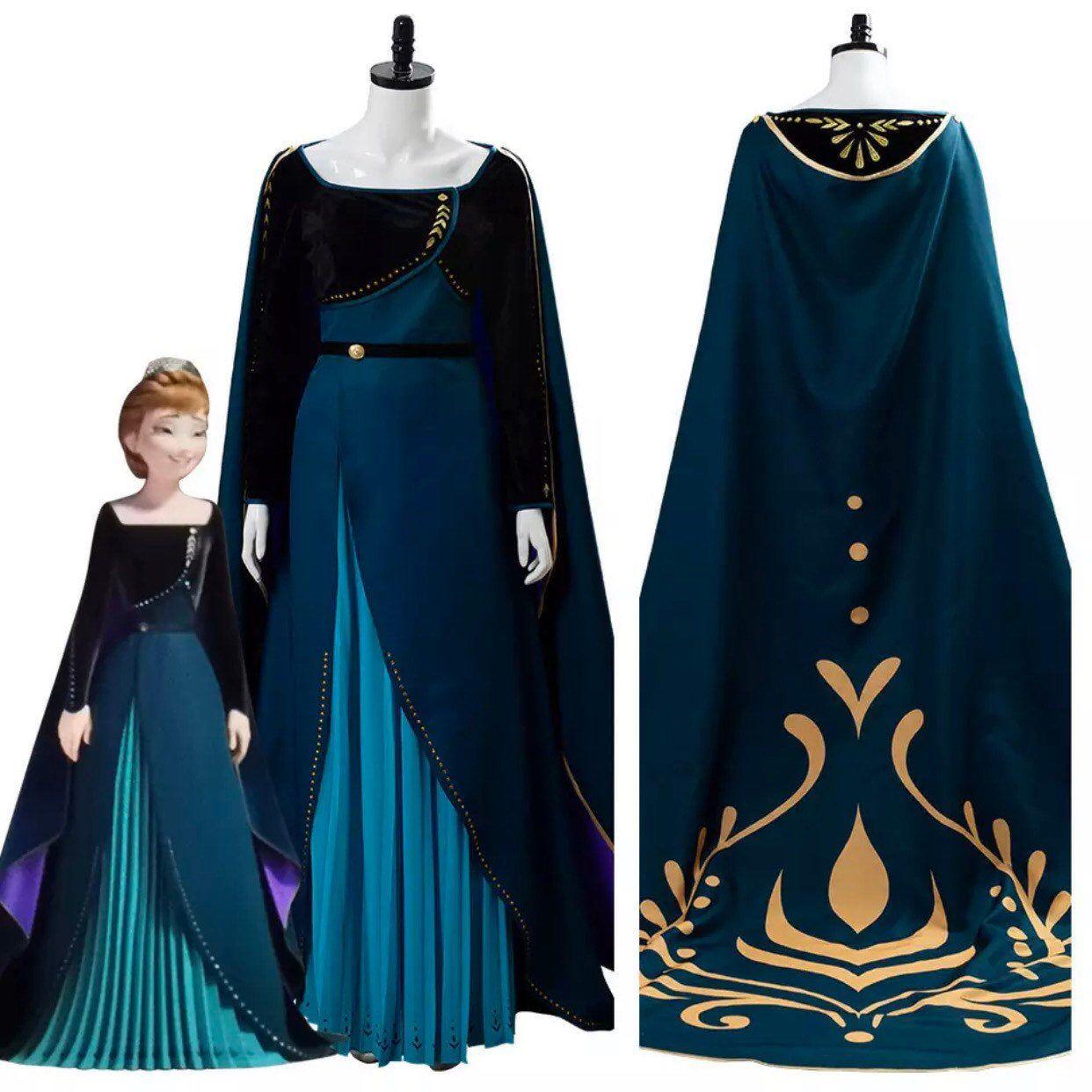 Pin By Noemi Carrasco On Dresses Queen Dress Dark Green Dress Anna Dress [ 1242 x 1242 Pixel ]