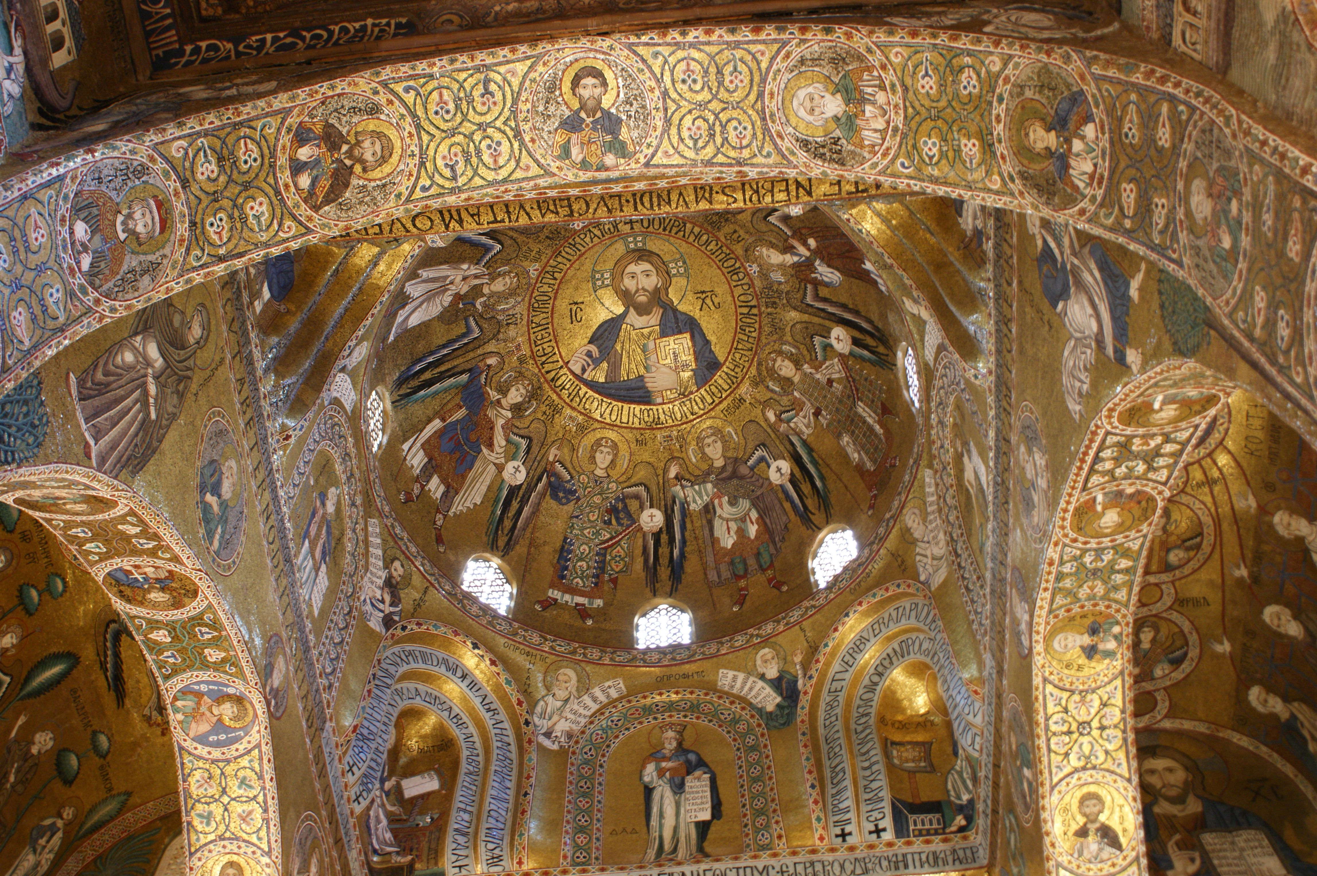 Image result for Mosaics of the Cappella Palatina in Palermo