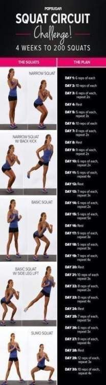 22+ Trendy Fitness Motivacin Challenges Squats #fitness