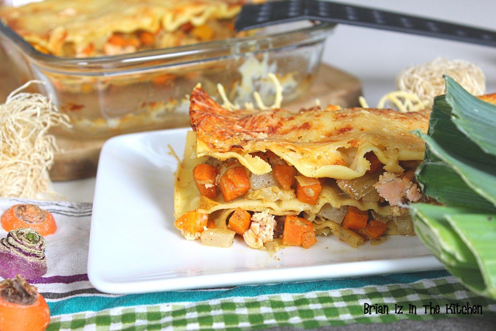 Lasagnes Saumon et Julienne de Légumes de Saison