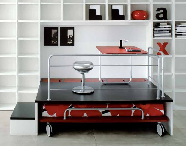 kids writing desk with trundle bed (unisex) TAZEBAO by Geert Koster LEMA Home