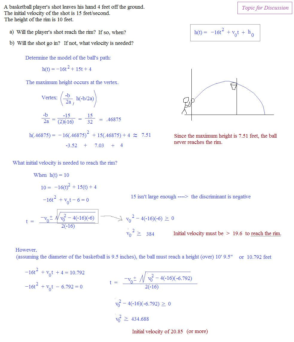 10 Quadratic Function Word Problems Worksheet With Answers In 2020