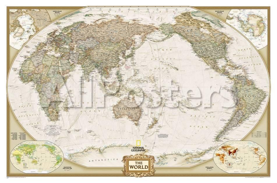 National geographic world executive pacific centered map national geographic world executive pacific centered map enlarged laminated poster prints by gumiabroncs Image collections