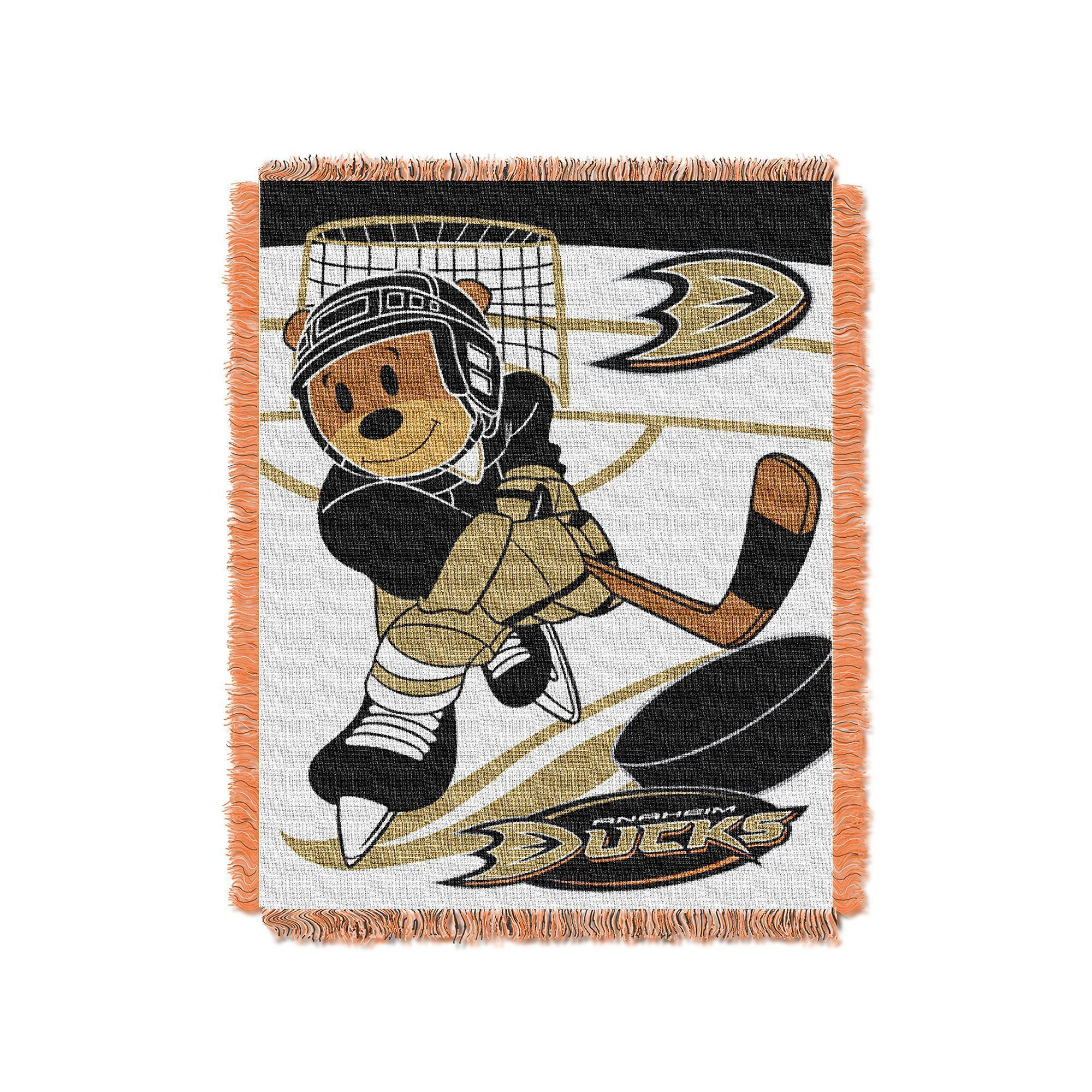 Anaheim Ducks Baby Jacquard Throw, Multicolor