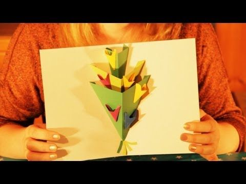 Pop Up Flowers Greeting Card Tutorial Happy Birthday Happy Easter Happy Mothers Day Cardmaking Youtube Card Tutorial Pop Up Flowers Cardmaking