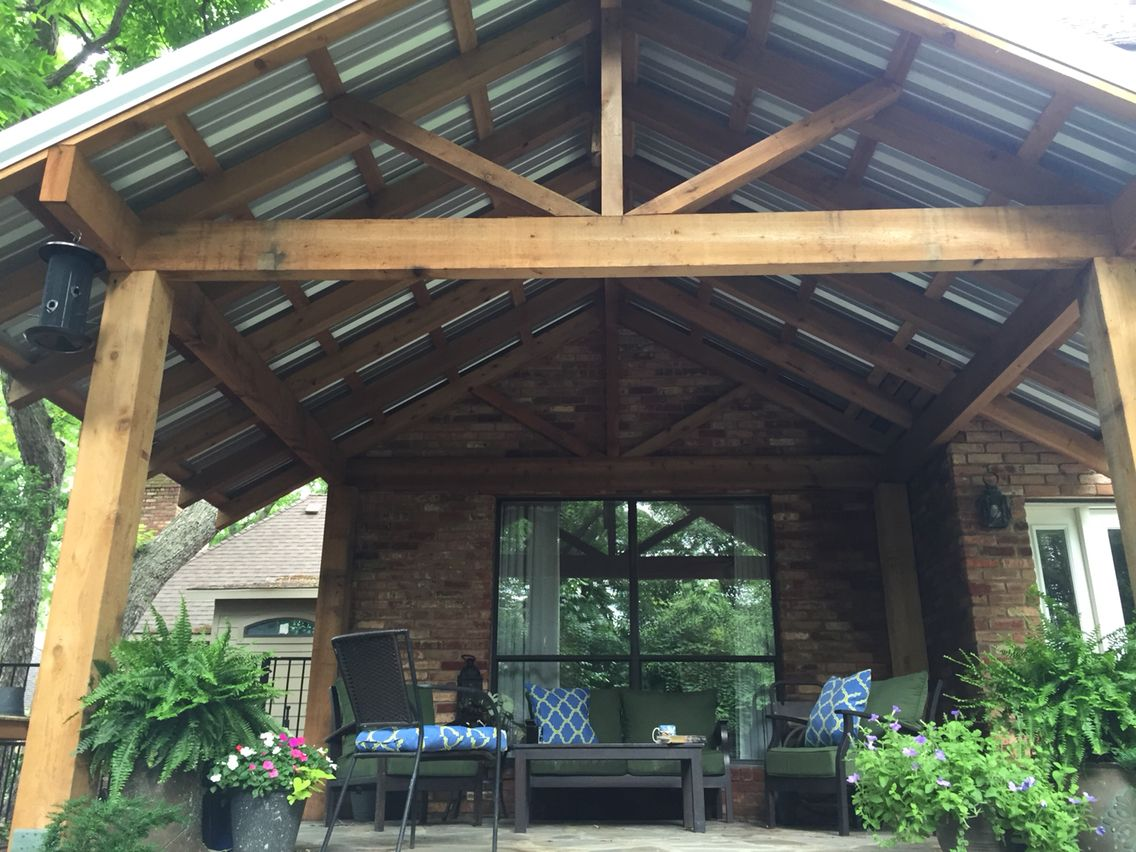 Patio Addition With R Panel Galvalume Roofing Firehouse Roofing - Patio addition