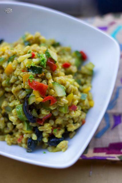 Prima che finisca la stagione tiepida – Farro speziato alle verdure & Cosmofood |