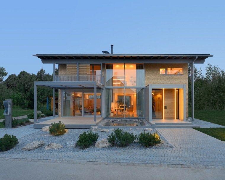Aménagement extérieur maison  jardins d\u0027entrée modernes Interiors - deco entree de maison