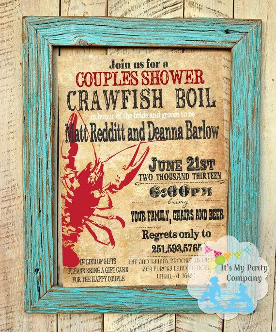 Couples Shower/ Engagement Crawfish Boil By