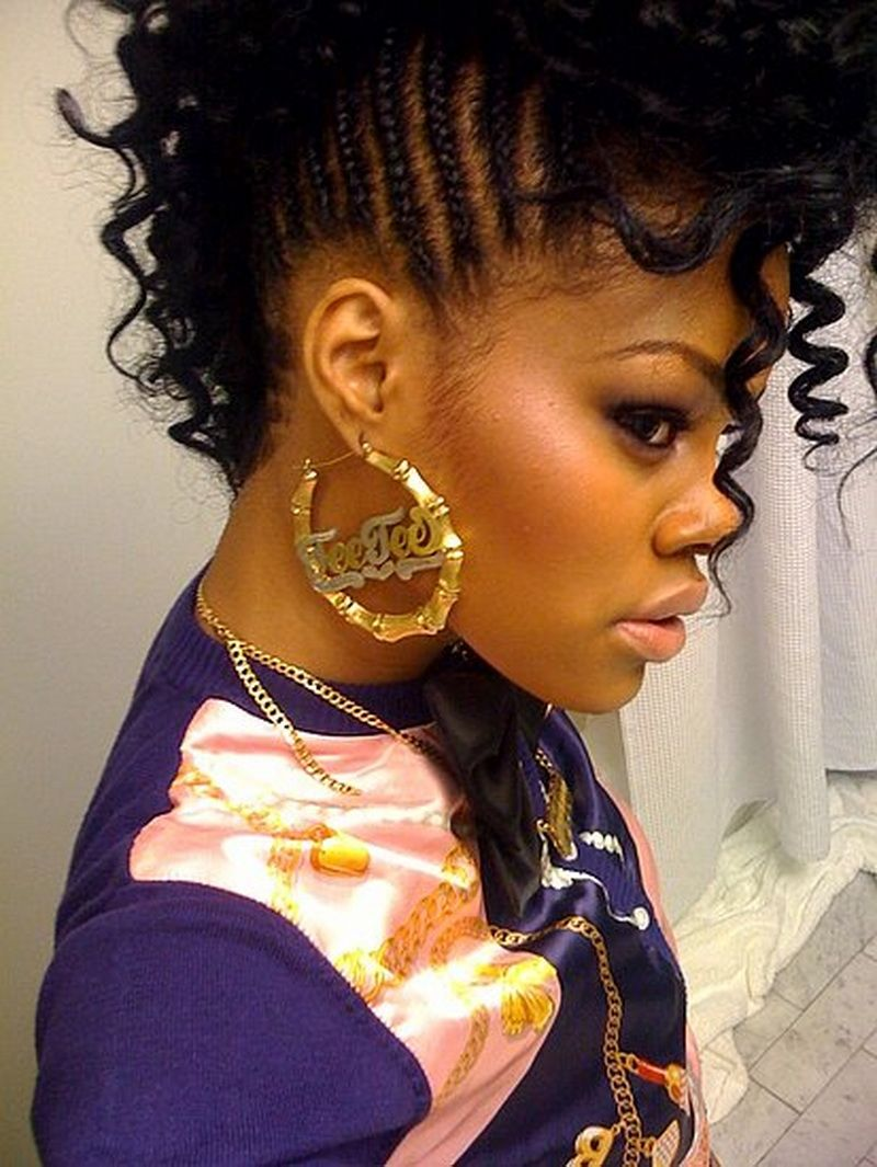 mohawk hairstyles for black women : curly mohawk hairstyles for