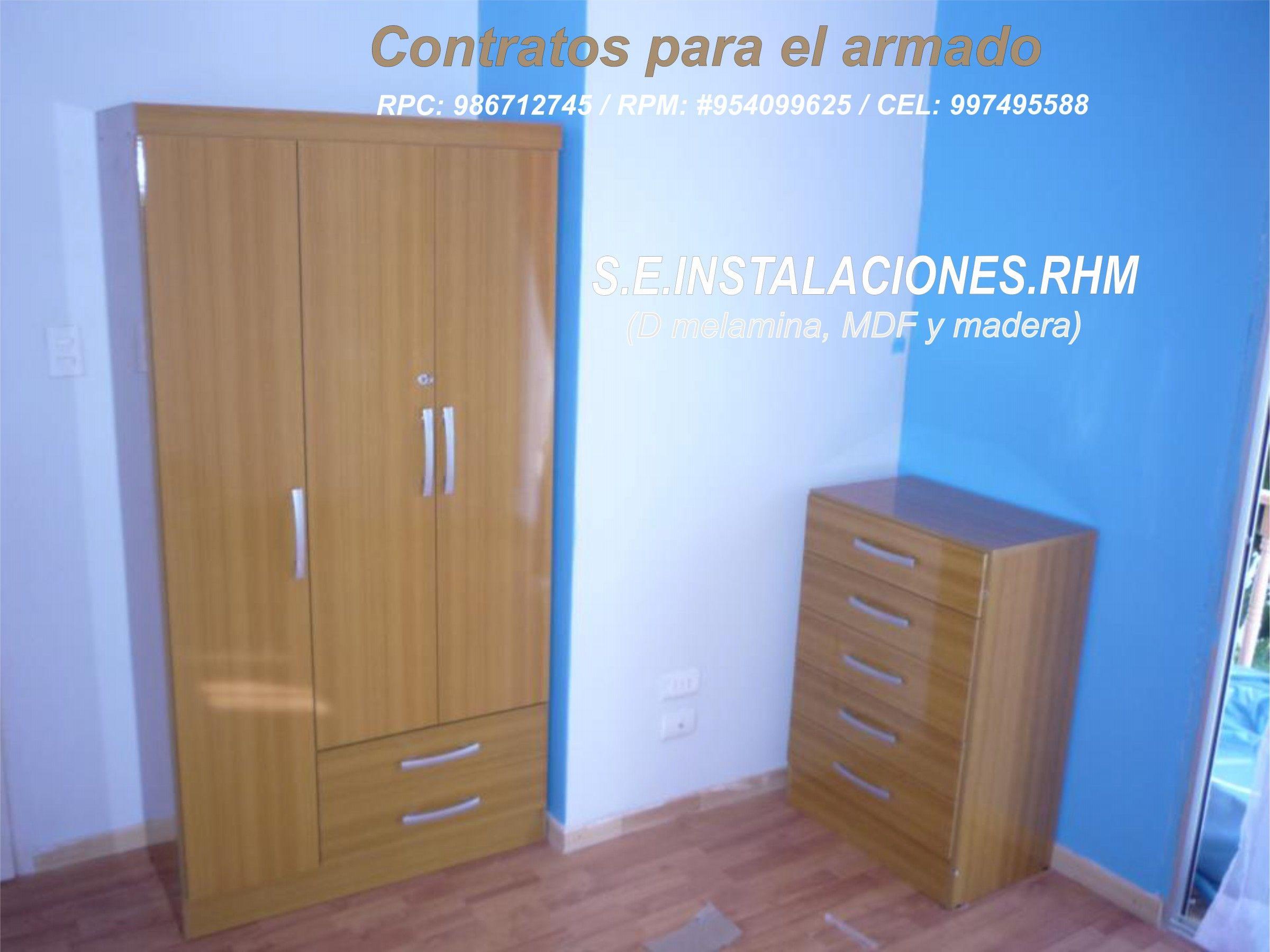 Ropero De 3 Puertas 2 Cajones C Moda Contratos Para El Armado  # Muebles Oechsle