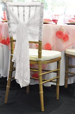 Your Ebay Shopping Cart Wedding Chair Sashes Chairs Ivory