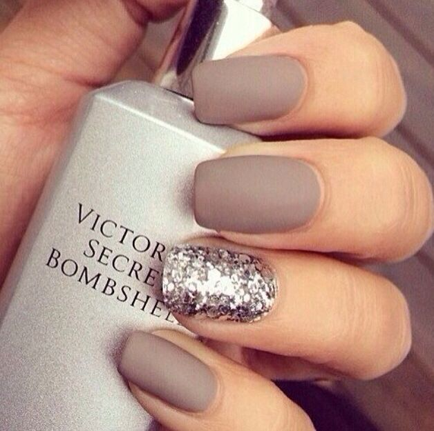 Matte and sparkle