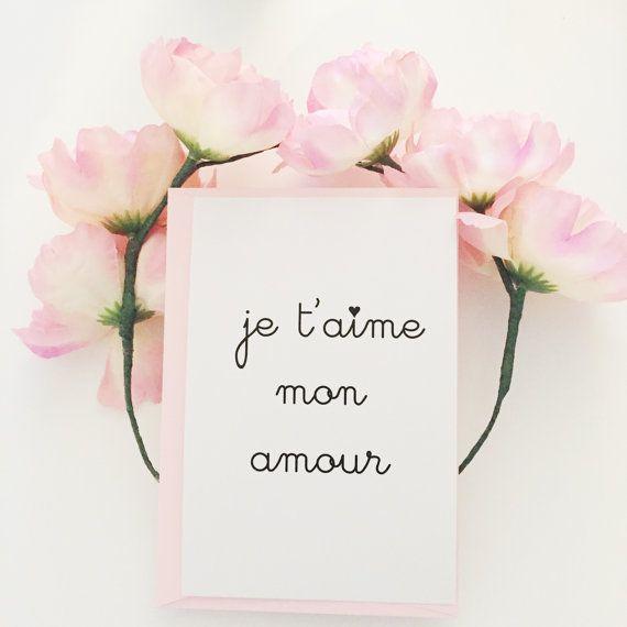 Je Taime Mon Amour Je Tadore I Adore You I By