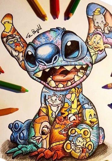 Stitch Gezeichnet