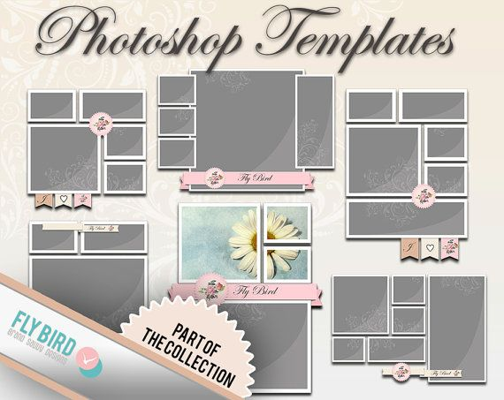 Photoshop Template - Photoshop Storyboard and Digital Scrapbook - digital storyboard templates