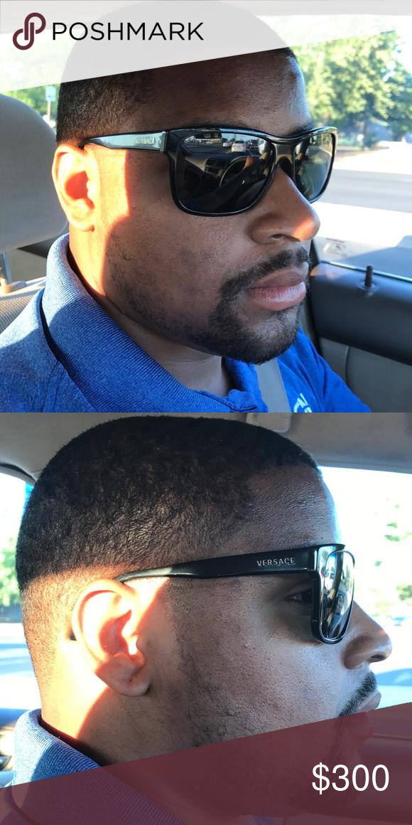 a01aa22e6f0 All black Versace sunglasses (Men) All black men s Versace sunglasses.  Still in great condition. Versace Accessories Sunglasses