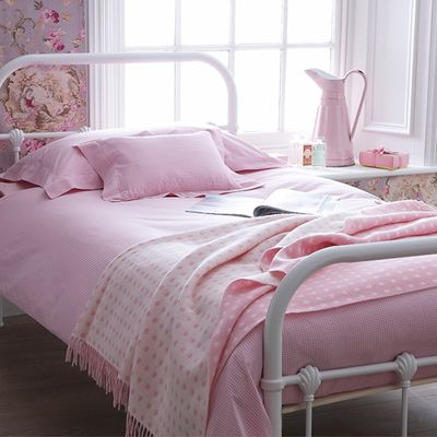 Pink Gingham Bed Linen   Cologne U0026 Cotton