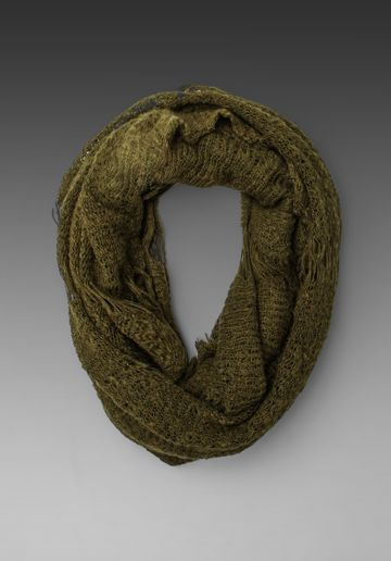 PAULA BIANCO Infinity Scarf in Army at Revolve Clothing - Free Shipping!