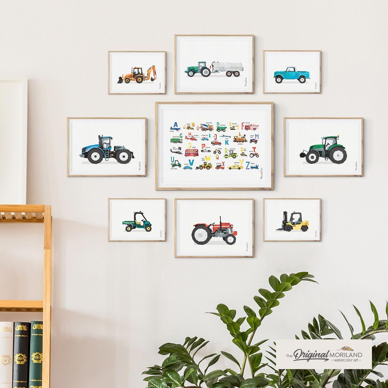 Farm Vehicles - Printable Set of 9 - LAND31 images