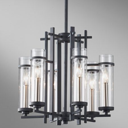 Murray Feiss F2631/6AF/BS Ethan Six Light Mini Chandelier