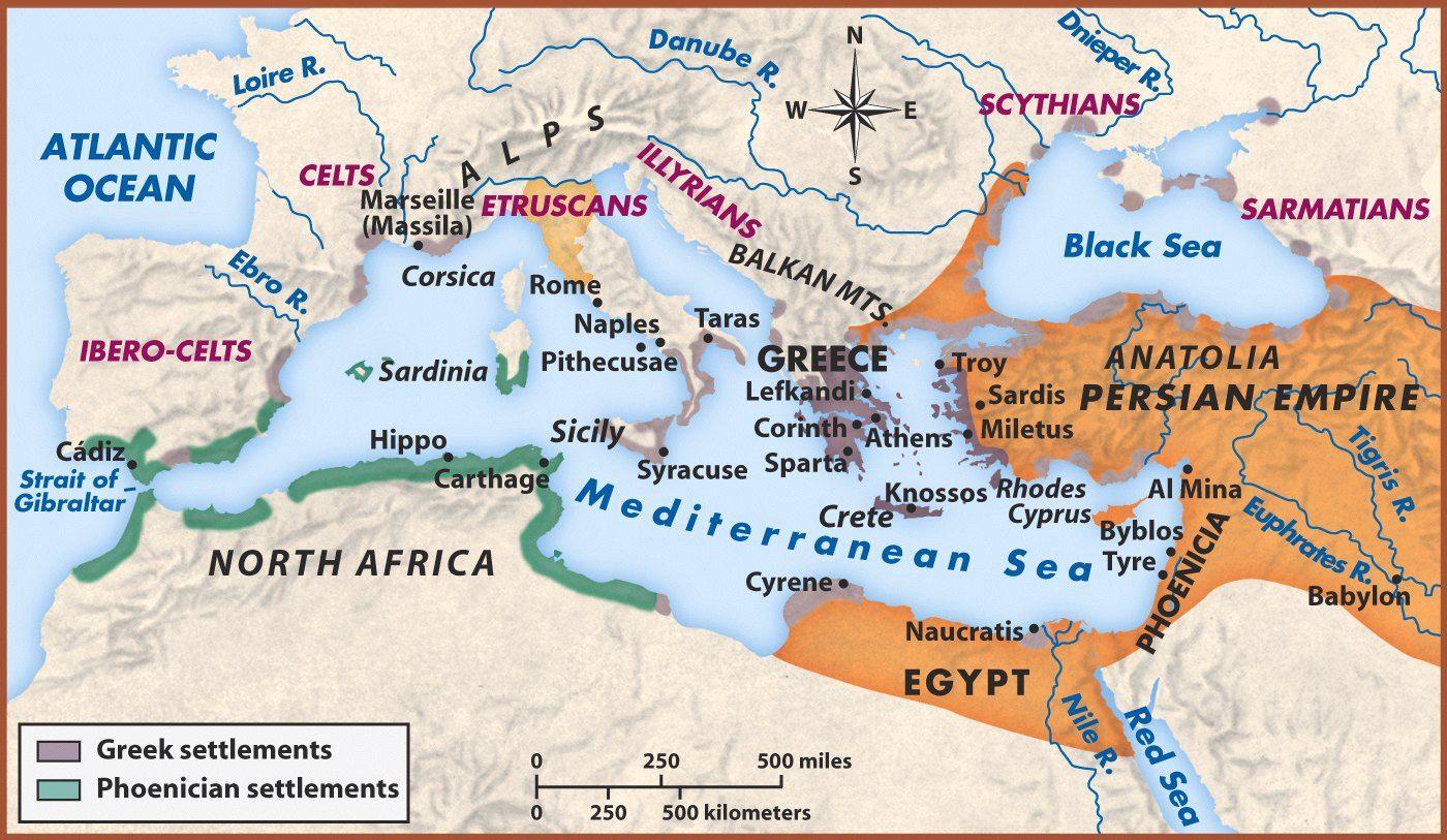 Phoenician And Carthaginian Map