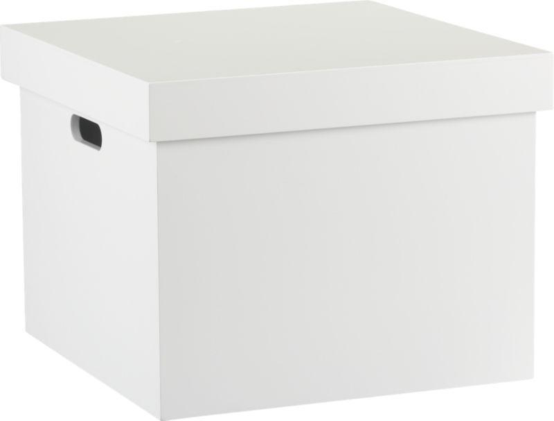 Genial White File Box | CB2