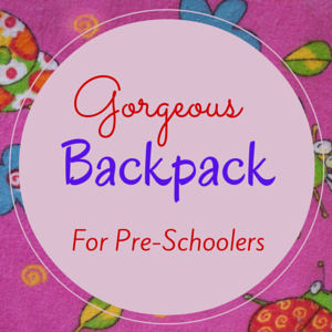 Cute Backpack for Pre-Schoolers