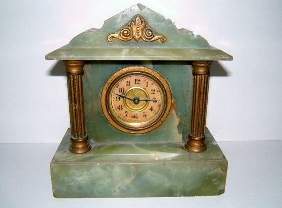 Victorian Mantle Clock Vintage Mantel Clock By Biminicricket 45
