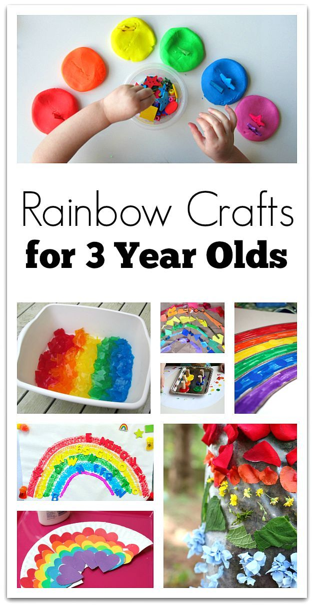 Rainbow Crafts For 3 Year Olds Rainbows And Colors