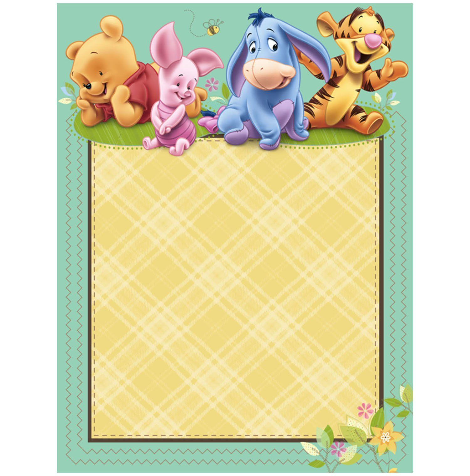 Winnie The Pooh Baby Shower Invitations Part - 39: Art Baby Pooh And Friends Baby Shower Imprintable Invitations ? Winnie The Pooh  Baby Shower Party-ideas