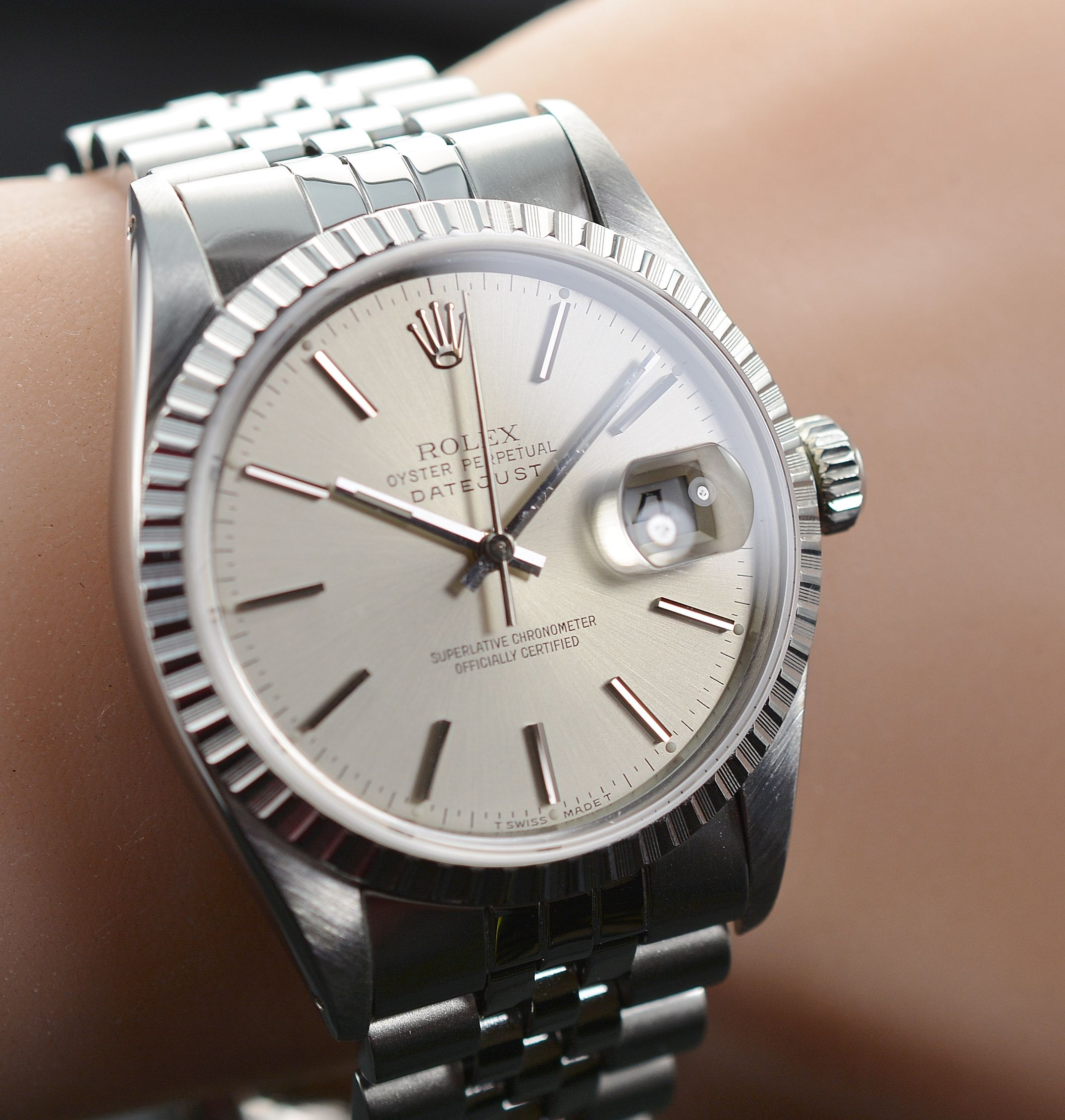 Vintage Rolex Datejust 36MM Stainless Steel Watch Circa ...Rolex Datejust 36mm On Wrist