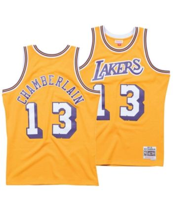 Mitchell   Ness Men s Wilt Chamberlain Los Angeles Lakers Hardwood Classic  Swingman Jersey - Gold XXL 7ec01bfed