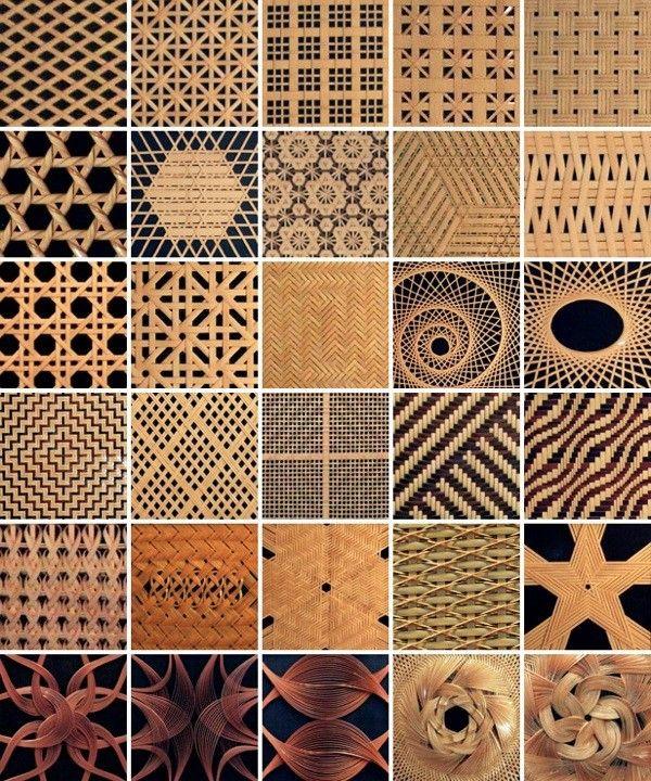 """1可是竹工职人们没有停歇的片刻意思,大多的竹编工艺依旧是只能手工编织完成。竹编的方法多种多样,甚至上达百种,依据不同用途又发展出相异的方法。基本可分为四边编法、六边编法、八边编法、弧形编法、网状编法、绳结编法等等,甚者有编织出文字、立体编织、混色编织的方法,若是几种编法交织使用,那更可用""""吾编无尽""""来形容。"""