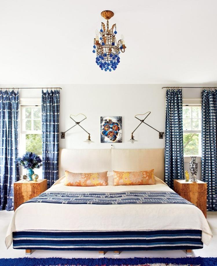 Cortinas para dormitorios - veinticuatro diseños de moda - cortinas azules