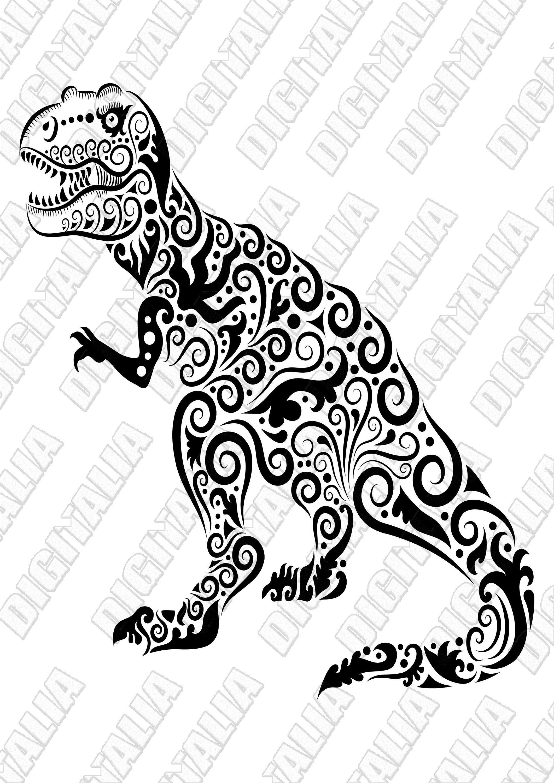 T Rex Mandala Dinosaur Clipart Dinosaur Svg Jpeg Planner Etsy Clip Art Mandala Photoshop Overlays