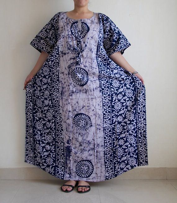 Plus size delivery gown, indian caftan, Maternity gown, Nursing gown ...
