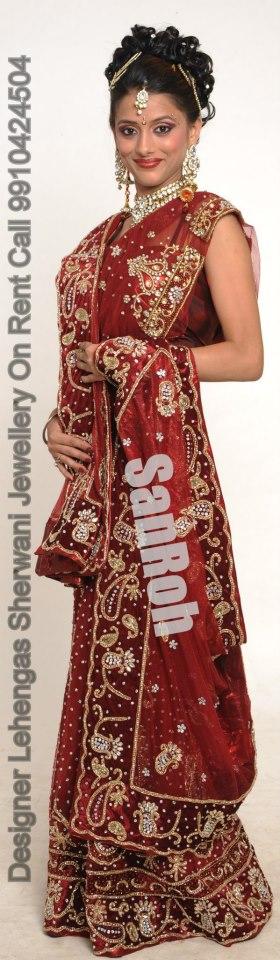 Bridal Lehenga On Rent In Delhi Ncr Call 9871472088 Wedding Dress Types Saree Gown Rent Dresses