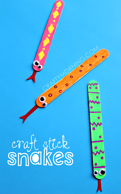 easy craft stick snake art project for kids fun kids